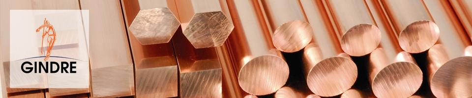 Round / square / hexagonal copper bars | Gindre